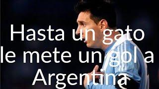 Hasta un gato le mete un gol a Argentina