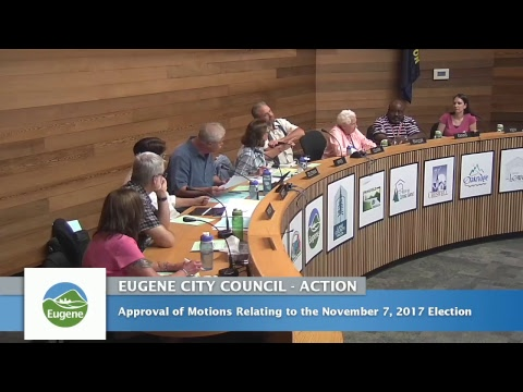 Eugene City Council Meeting: July 24, 2017