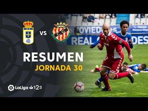 Resumen de Real Oviedo vs Nàstic (2-0)