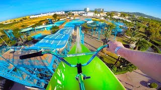 BMX RIDING AT INSANE ABANDONED WATERPARK IBIZA! thumbnail