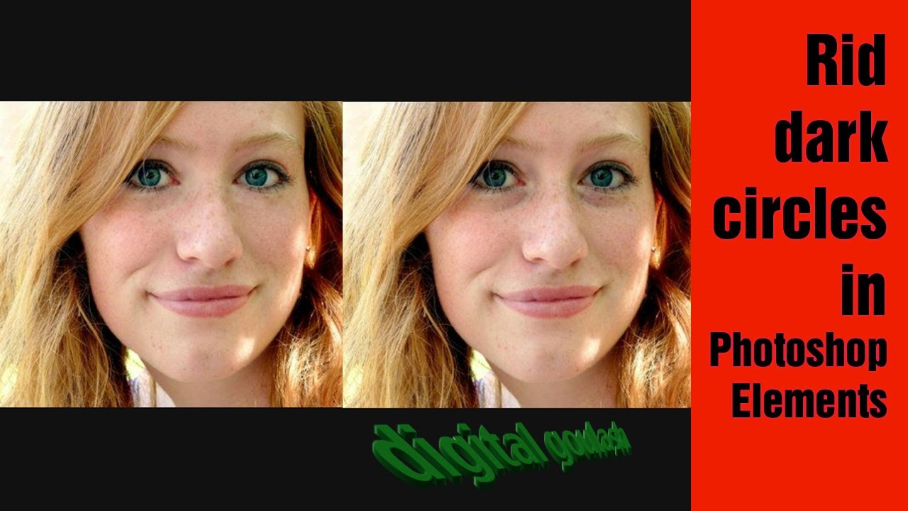 how to get rid of uner eye circles in photoshop