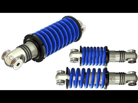 SolidWorks Tutorial #315 : Shock absorber with movable sprin