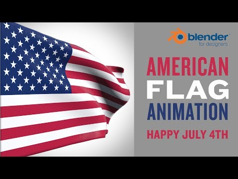 American Flag Animation (July 4th Edition) - Blender for Designers