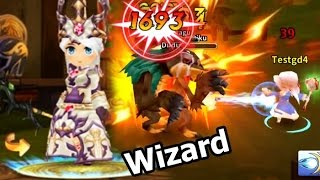 LINE Dragonica Mobile รีวิว อาชีพ wizard และ Skill