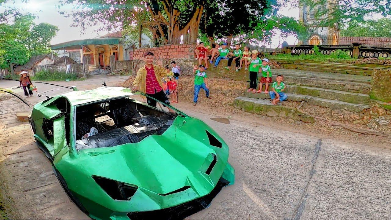 Lamborghini tự làm từ phế liệu chạy trên đường quê khiến mọi người thích thú - homemade lamborghini