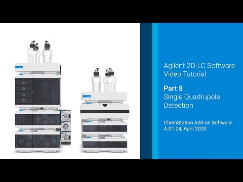 Agilent 2D-LC Software Tutorial 8/9: 2D-LC with Single Quadrupole Mass Spectrometry