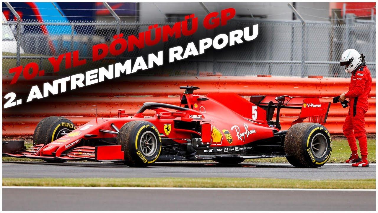 F1 2020 70. Yıl Dönümü GP 2. Antrenman Raporu: Vettel yolda kaldı!