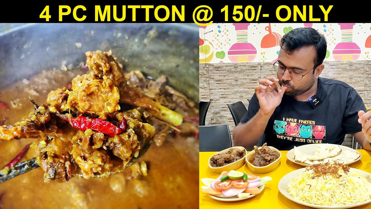 4 Pc Mutton at 150 Rs only Oldest Biryani Shop in Patna Biryani House. Non Veg Food by Foodie Robin