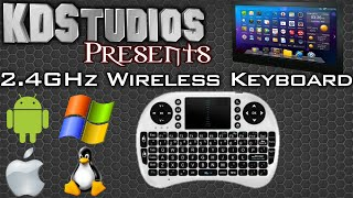 2 4ghz wireless mini portable keyboard touchpad mouse review for android pc