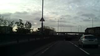 Driving in London - Lee Valley Park to Blackwall