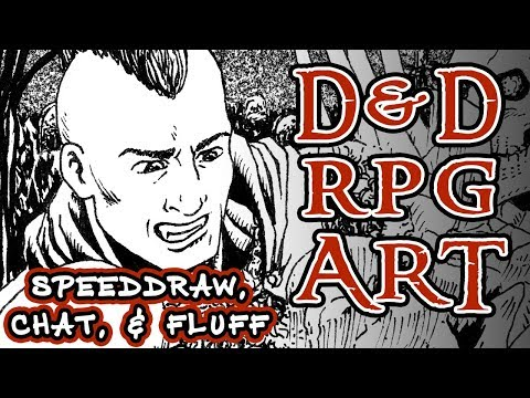 Speed Drawing A Vampire Fighting Skeletons In Old D&D Manual Art Style || RPG Art, Chat, And Fluff
