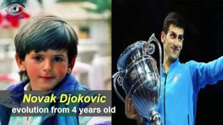 Novak Djokovic - from 4 to 30 years old