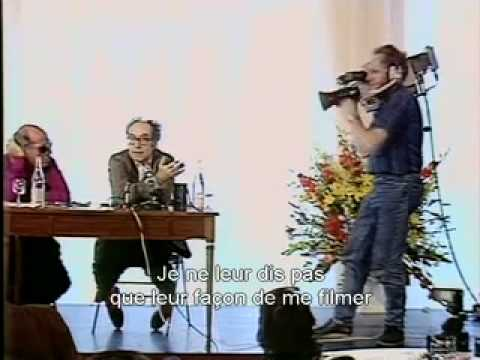 """""""This is the enemy."""" Jean-Luc Godard in Cannes 1988"""