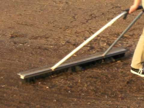 Using a broom drag on your baseball field - YouTube