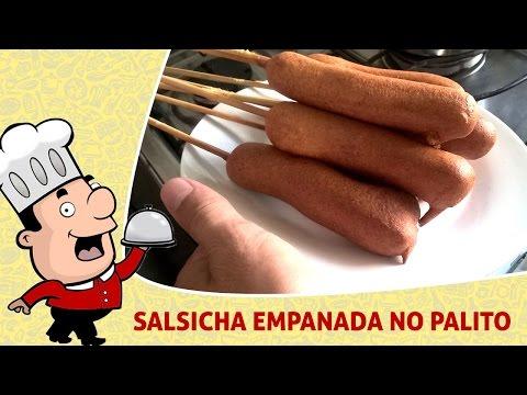 Como Fazer - Salsicha Empanada no Palito