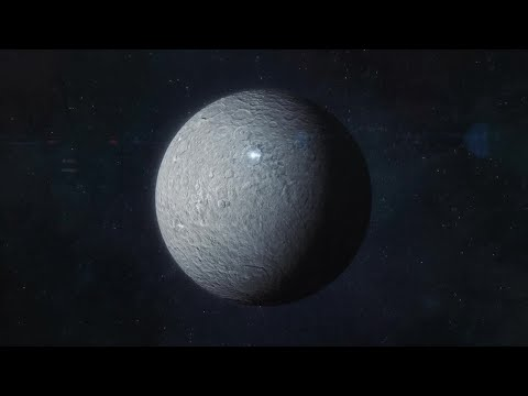 Approaching The Asteroid Ceres Motion Graphics