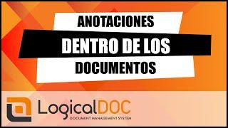 Cómo anotar documentos con LogicalDOC Gestión de Documentos