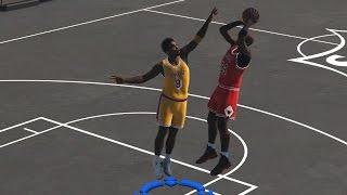 NBA 2K15 2015 PC blacktop gameplay Young Kobe Bryant Vs Michael Jordan 1 on 1  (PC/PS4)