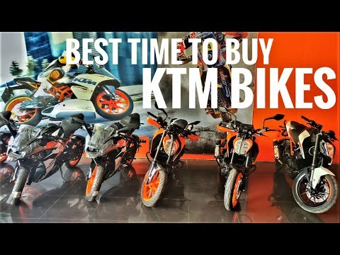 Best time to buy KTM bikes