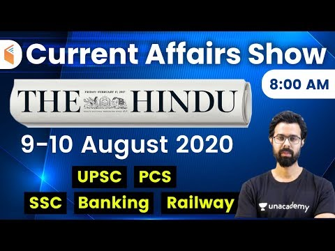 8:00 AM - Daily Current Affairs 2020 by Bhunesh Sharma | 9-10 August 2020 | wifistudy