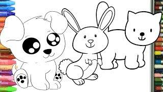 Come disegnare e colorare animali per bambini
