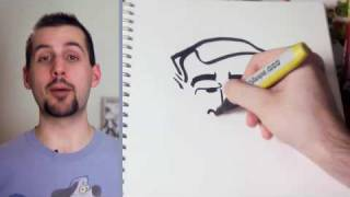 How To Draw George W. Bush in 15 Seconds