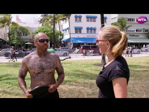 Svetlana Kuznetsova Visits Miami's Muscle Beach