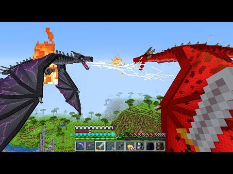 БИТВА ДВУХ ДРАКОНОВ ICE AND FIRE МОД ! - Хардкорный майнкрафт - Minecraft 1.16.5 #20