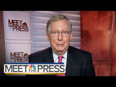 Mitch McConnell On Supreme Court Showdown (Full Interview) | Meet The Press | NBC News