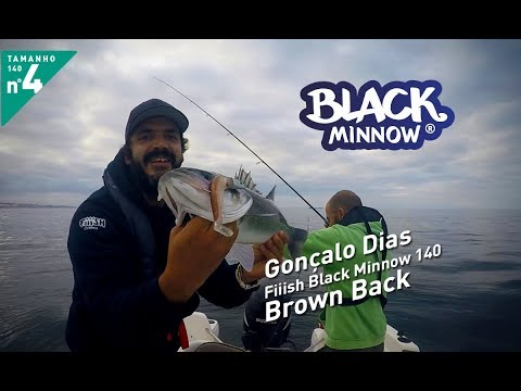 Gonçalo Dias - Black Minnow 140 Brown Back Offshore 40g