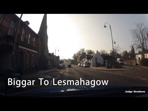 Drive From Biggar To Lesmahagow - South Lanarkshire