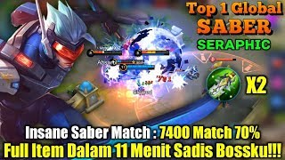 Perfect Assassin | Semua Hero Bisa Saber Countet!!! - Top 1 Global Saber sᴇʀᴀᴘʜɪᴄ