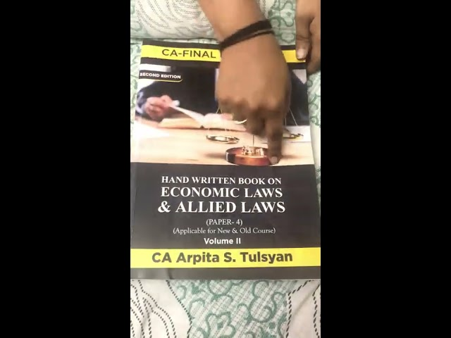 A Glimpse of New Handwritten Book for CA Final LAW by CA Arpita Tulsyan