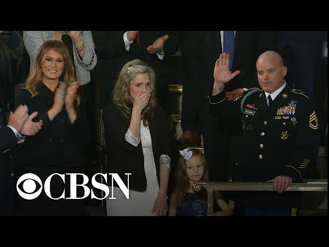 Military Family Reunites At State Of The Union Address