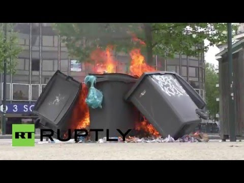 France: Anti-labour reform protest turns violent in Rennes