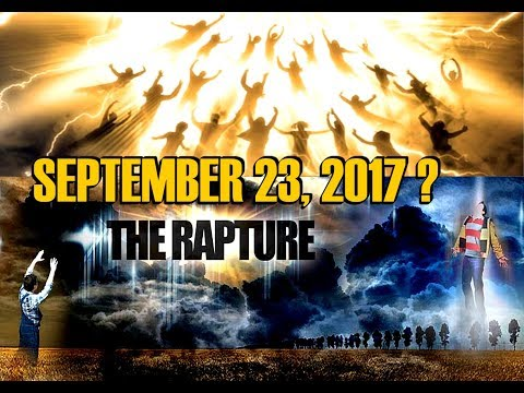 Could the RAPTURE be this close..? SEPTEMBER 23 2017, Rosh Hashanah!