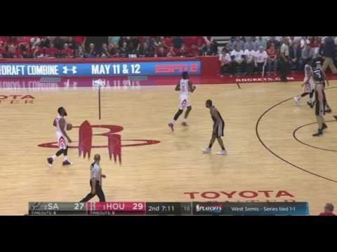 Spurs pick and roll defense against Harden