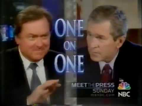February 2004 - Promo for Tim Russert Interview with President George W. Bush