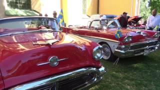Nationaldagsfirande med veteranbilsutställning i Olaiparken, Norrköping 6 juni 2016