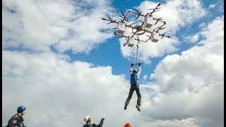 World's First Drone Base Jump: Daily Planet