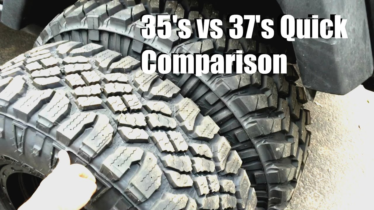35s Vs 37s Comparison Jeep Wrangler Youtube