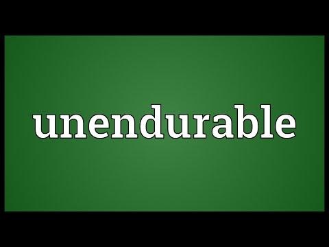 Header of unendurable