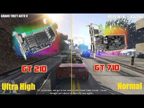 NVIDIA GT 210 Vs Gt 710 Gta 5 Gameplay Test -BEST LOW BUDGET Graphics Card Ever