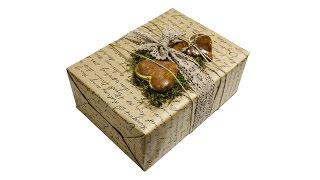 Как  упаковать подарок своими руками Мастер класс How to pack a gift.(А вас уже взяла за сердце Цветочная богиня Флора? Привела вас в мир флористики? Тогда милости прошу познако..., 2015-02-13T10:03:07.000Z)