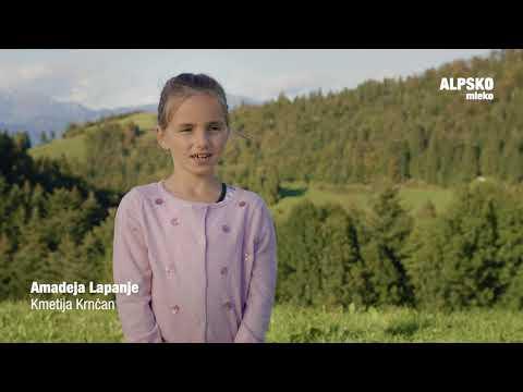 Ljubljanske Mlekarne Alpsko mleko Okus po domu Družina Krnčan