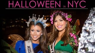 Halloween with Miss Universe 2013 and Miss USA 2014
