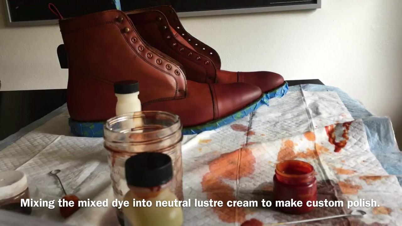 Custom Dye On Allen Edmonds First Avenue Boots. - YouTube 550163d2c9f