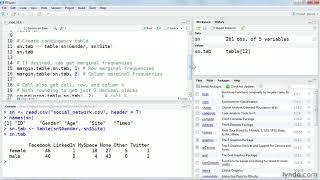 R التعليمي: إنشاء الترافقية القاطع المتغيرات | lynda.com