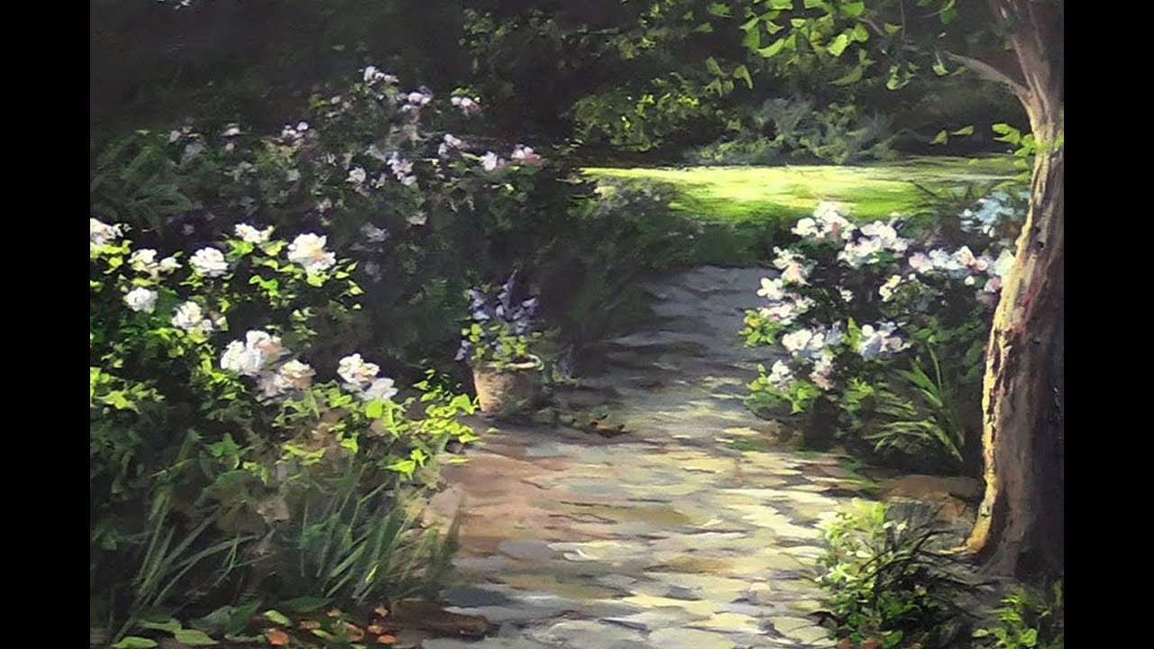 Paintings Of Cobblestone Paths : Garden path paint with kevin youtube