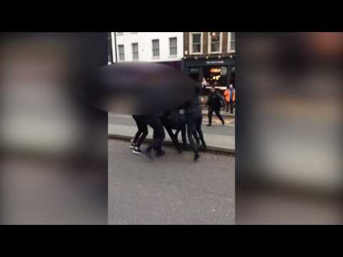 'Students' brawl in Upper Street, Islington